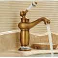 Traditional Centerset Waterfall with Ceramic Valve Single Handle One Hole for Antique Brass , Bathroom Sink Faucet FA0401A