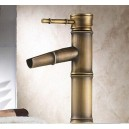 Traditional Centerset Ceramic Valve Single Handle One Hole with Antique Brass Bathroom Sink Faucet TP0407A