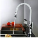 Contemporary Standard Spout Vessel Pullout Spray Rotatable with Ceramic Valve Single Handle One Hole for Chrome FA2801