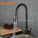 Antique Pull-out Spray with Ceramic Valve Single Handle One Hole for Oil-rubbed Bronze Kitchen faucet FA2755B