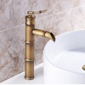 Bathroom Sink Faucet with Antique Brass Finish-Bamboo Shape Design FA0407HA