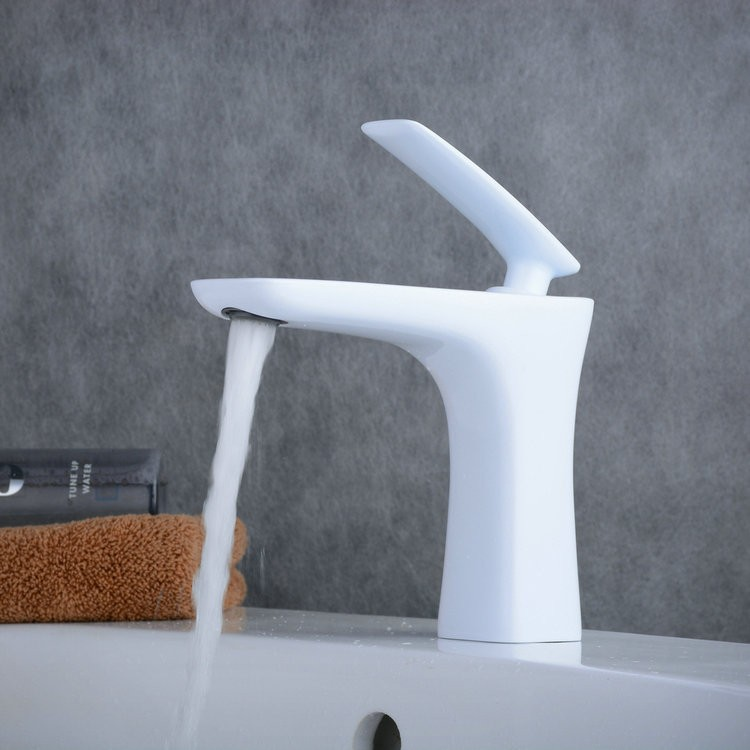 Contemporary Style Painting White Single Handle Single Hole ...