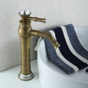 Antique Bronze Brass Hot and Cold Single Handle Tall Bathroom Sink Faucet Basin Mixer FA1300HA
