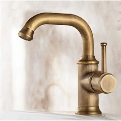 Antique Widespread Rotatable with Ceramic Valve Single Handle One Hole for Bathroom Sink Faucet FA1001A