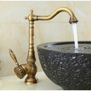 Bathroom Sink Faucet with Antique Brass Finish-Bamboo Shape Design FA0401-1A