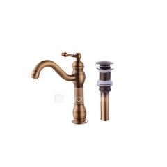 Contemporary CentersetCeramic Valve One Hole for Antique Copper , Bathroom Sink Faucet FA0403A