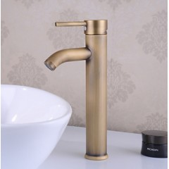 Traditional Centerset Ceramic Valve Single Handle One Hole with Antique Brass Bathroom Sink Faucet FA0537HA