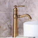 Bathroom Sink Faucet with Antique Brass Finish-Bamboo Shape Design FA0402HA