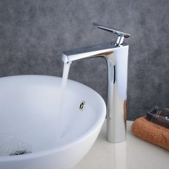 Contemporary Centerset Waterfall Ceramic Valve One Hole Single Handle One Hole Chrome , Bathroom Sink Faucet FA0317H