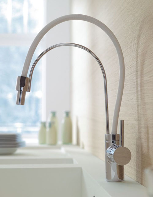 Ultra Modern Kitchen Faucets kludi l-ine removable telescoping kitchen faucets | faucet shop blog
