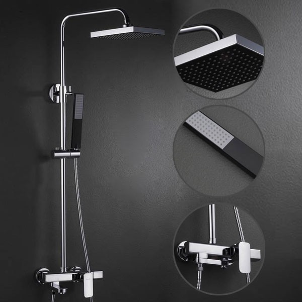 Contemporary Shower Faucet With 8 Inch Head Hand Fsc001